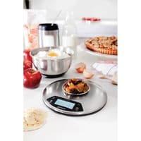 Brabantia Digital Kitchen Scales with Timer Matt Steel Round